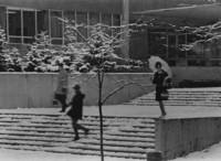 1965 Haggard Hall in Snow