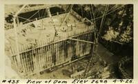 Lower Baker River dam construction 1925-04-09 View Dam Elev 269.8