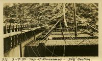 Lower Baker River dam construction 1925-03-19 Top of Sluiceways 36 1/2' Section