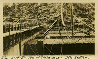 Lower Baker River dam construction 1925-03-19 Top of Sluiceways 36 1/2' Section