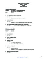 WWU Board of Trustees Packet: 2018-08-24