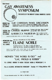 Ninth Annual Gay Awareness Symposium