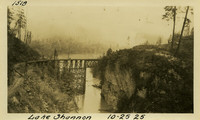Lower Baker River dam construction 1925-10-25 Lake Shannon (with railroad trestle)