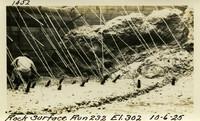 Lower Baker River dam construction 1925-10-06 Rock Surface Run 232 El.302