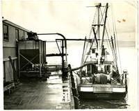 Stern view of fishing vessel