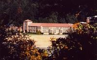 1960 Campus School Building Framed by Trees