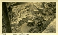 Lower Baker River dam construction 1924-09-15 Excavation in building site