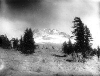 Reverse view of south side of Mt. Hood