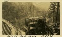 Lower Baker River dam construction 1925-10-28 Intake Gate House