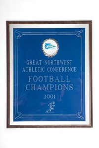 Football Plaque: GNAC Football Champions, 2001