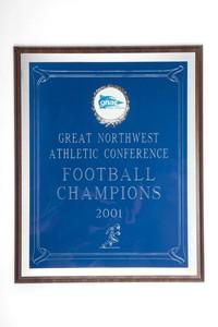 Football Plaque: GNAC Football Champions, 2001