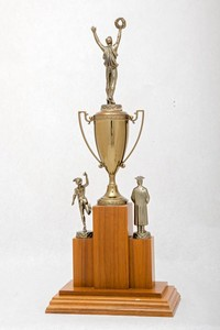 General Trophy: Daniel Schnebele Memorial Award, outstanding freshman citizen scholar             athlete (back), 1961/1964