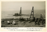 Driving the pile bulkhead - shipyard foundations at P.A.F. Commercial Point