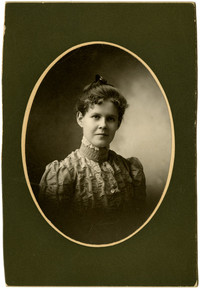 Studio portrait of unidentified woman