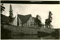 Mt. Baker Lodge overlooking small lake