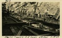 Lower Baker River dam construction 1925-07-14 Placing Concrete N.E. Corner 4th Floor