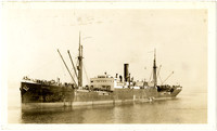 "Pacific American Fisheries sail-steam vessel used as cannery ship ""North King"" with many people on deck"