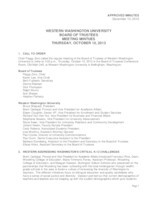 WWU Board of Trustees Minutes: 2013-10-10