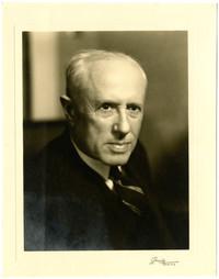 Studio portrait of E.B. Deming