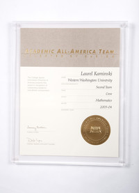 Rowing (Women's) Plaque: Academic All-America Team, Laurel Kaminski, 2003/2004