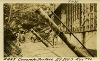 Lower Baker River dam construction 1925-05-01 Concrete Surface El.260.3 Run #90