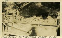 Lower Baker River dam construction 1925-08-11 Rock Surface Run #185 W. Side El.347