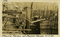 Lower Baker River dam construction 1925-05-17 Placing Forms at Power House