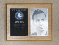 Hall of Fame Plaque: Norm Dahl, Football, Men's Basketball, Track and Field, Class of 1968
