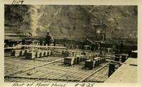 Lower Baker River dam construction 1925-08-04 Roof of Power House