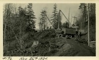 Lower Baker River dam construction 1924-11-26 Excavation for surge tank