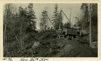 Lower Baker River dam construction 1924-11-26 Excavation for surge tank