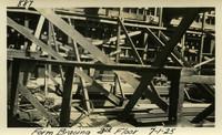 Lower Baker River dam construction 1925-07-01 Form Bracing 3rd Floor