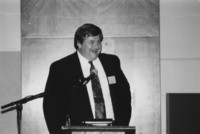 1993 Reunion--WWU Provost Larry DeLorme Addresses  Banquet Attendees