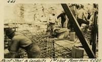Lower Baker River dam construction 1925-06-02 Reinf Steel & Conduits 1st Floor Power House