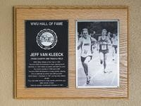 Hall of Fame Plaque: Jeff Van Kleeck, Cross-Country Running, Track and Field, Class of 2005