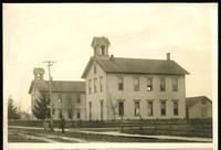 School buildings in 1890s, Dupont between I & J street (Bellingham)