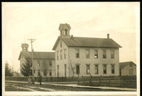 School buildings in 1890s, Dupont between I & J street (Bellingham)