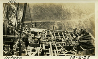 Lower Baker River dam construction 1925-10-06 Intake