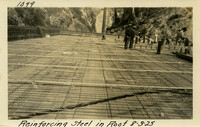 Lower Baker River dam construction 1925-08-03 Reinforcing Steel in Roof