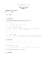 WWU Board of Trustees Packet: 2015-07-20