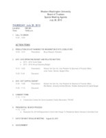 WWU Board of Trustees Packet: 2015-07-20