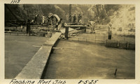 Lower Baker River dam construction 1925-08-05 Finishing Roof Slab