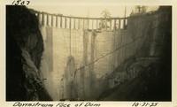 Lower Baker River dam construction 1925-10-21 Downstream Face of Dam