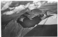 Aerial view of mountain crater