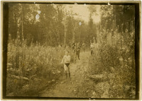 Mt. Baker Marathon participants run through wooded trail
