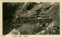 Lower Baker River dam construction 1924-09-24 Post flood, cofferdam