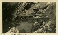 Lower Baker River dam construction 1924-09-24 Post flood, cofferdam