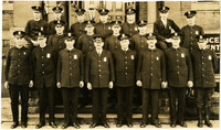 Bellingham Police Department posing on front steps of building