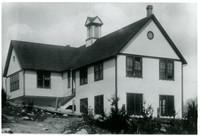 Rear side view of Silver Beach school house