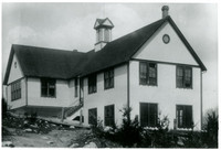 Rear side view of Silver Beach school house